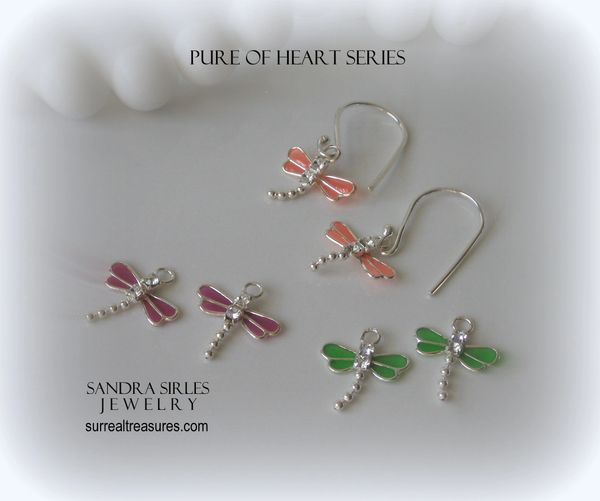 PURE OF HEART SERIES DRAGONFLY EARRINGS