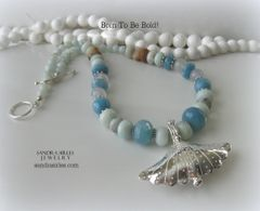 CAPTIVATING SHADES OF BLUE NECKLACE