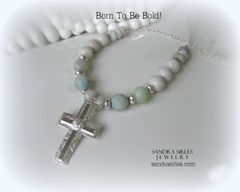 NECKLACE AMAZONITE CROSS