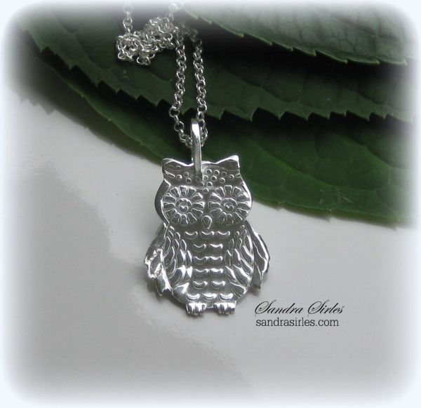 NECKLACE STERLING SILVER, OWL