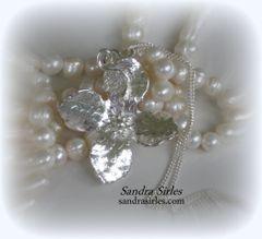 NECKLACE STERLING SILVER EVENING PRIMROSE FLOWER