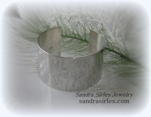 CUFF STERLING SILVER ~ WE SHELL HEAR ANGELS