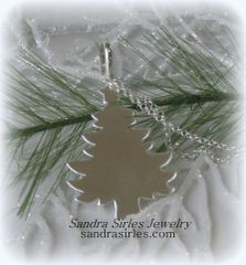 NECKLACE STERLING SILVER CHRISTMAS TREE