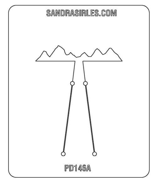 PANCAKE DIE PD146A LG. MOUNTAINS 1