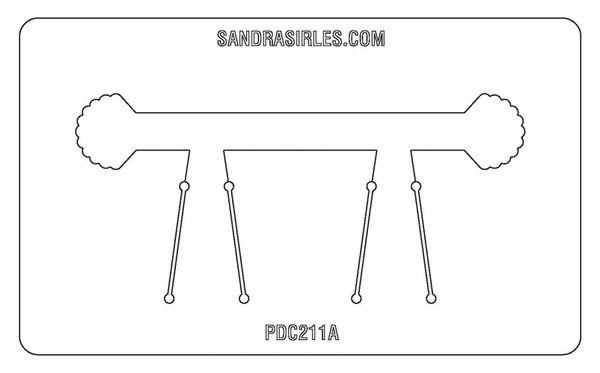 PANCAKE DIE PDC211A LG. CUFF SHELL FAN