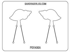 PANCAKE DIE PDE400 EARRINGS SHELL LEFT & RIGHT