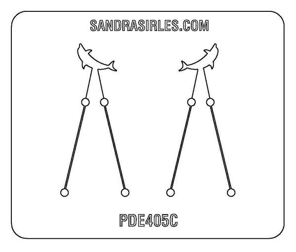 PANCAKE DIE PDE405C SM. EARRINGS DOLPHIN