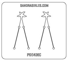 PANCAKE DIE PDE406C SM. EARRINGS STARFISH