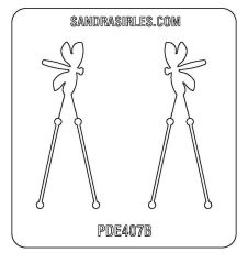 PANCAKE DIE PDE407 EARRINGS DRAGONFLY