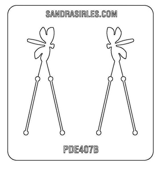 PANCAKE DIE PDE407 EARRINGS DRAGONFLY