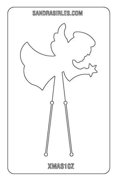 PANCAKE DIE XMAS10 ANGEL/STAR