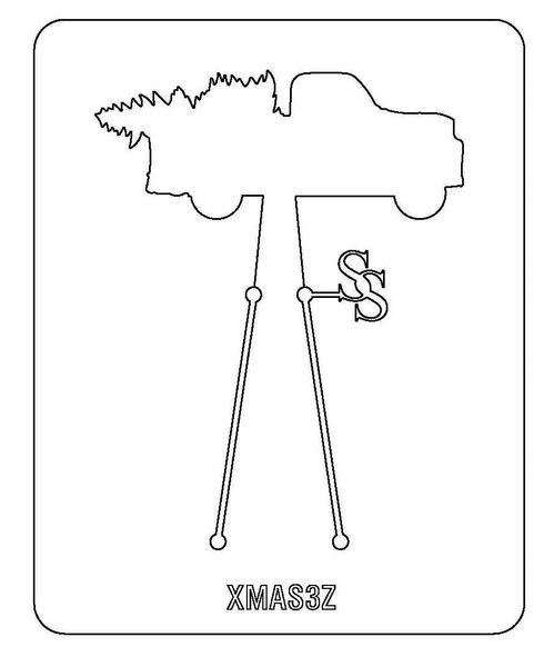 PANCAKE DIE XMAS3 TRUCK/TREE