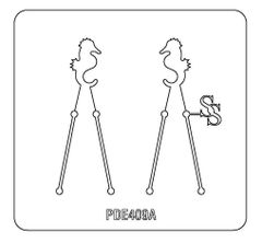 PANCAKE DIE PDE409 EARRINGS SEAHORSE