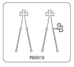 PANCAKE DIE PDE411 EARRINGS CROSS