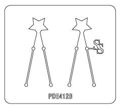 PANCAKE DIE PDE412 EARRINGS STAR