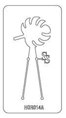 PANCAKE DIE HOR014 PALM LEAF