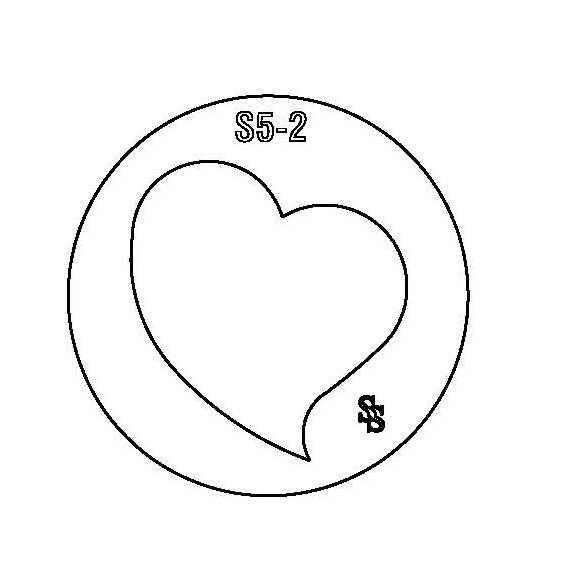 SILHOUETTE DIE S5 HEART 1