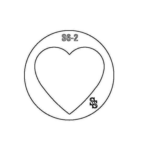 SILHOUETTE DIE S6 HEART 2