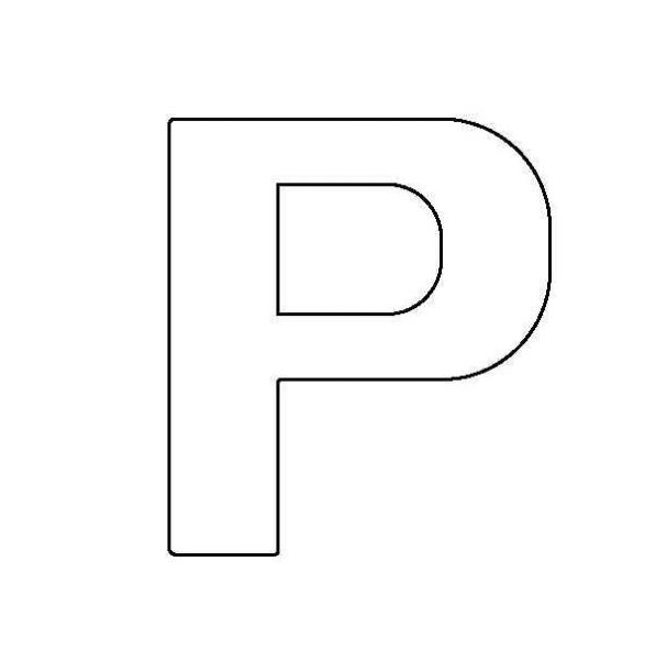 PANCAKE DIE LET22 UPPER CASE LETTER P