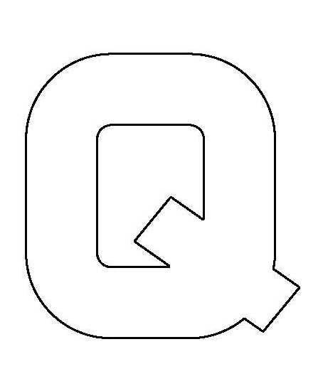 PANCAKE DIE LET23 UPPER CASE LETTER Q