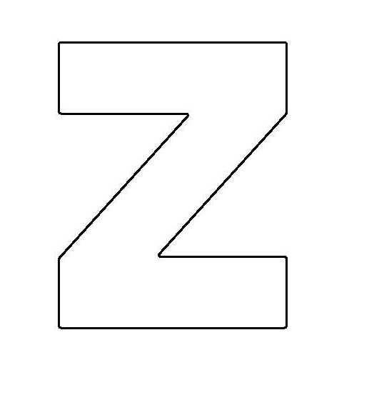 PANCAKE DIE LET32 UPPER CASE LETTER Z