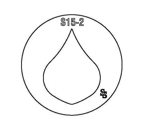 SILHOUETTE DIE S15 SHAPE 55 FAT POINTED TEARDROP