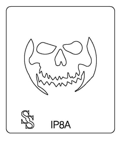 IMPRESSION PLATE IP8 SKELETON FACE