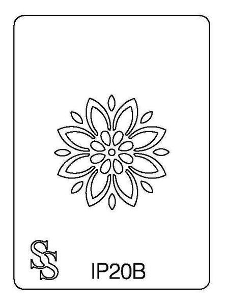 IMPRESSION PLATE IP20B FLOWER DESIGN 1
