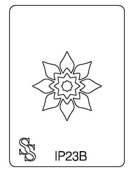 IMPRESSION PLATE IP23B FLOWER DESIGN 3