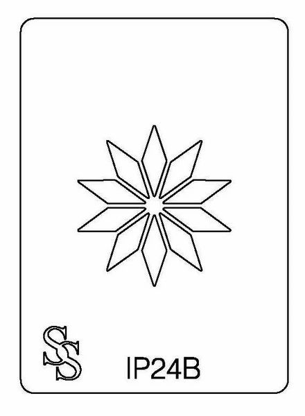 IMPRESSION PLATE IP24B FLOWER DESIGN 4