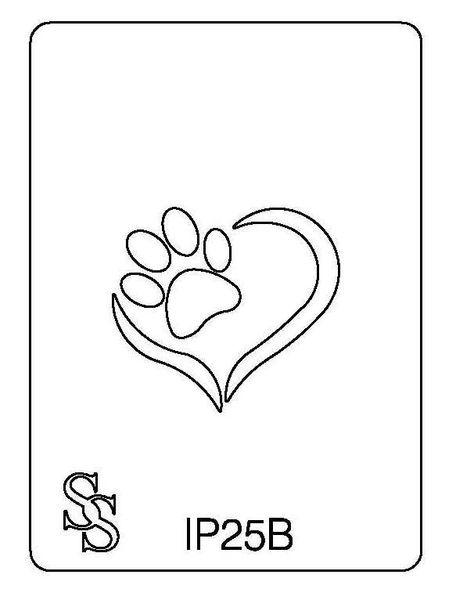 IMPRESSION PLATE IP25B HEART~PAW