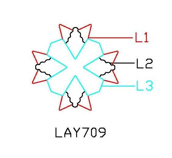 PANCAKE DIE LAY709 3 LAYER709