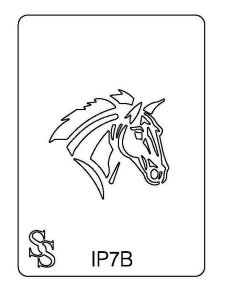 IMPRESSION PLATE IP7B HORSE HEAD
