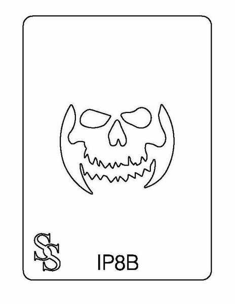 IMPRESSION PLATE IP8B SKELETON FACE