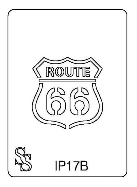IMPRESSION PLATE IP17B ROUTE 66
