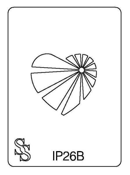 IMPRESSION PLATE IP26B HEART