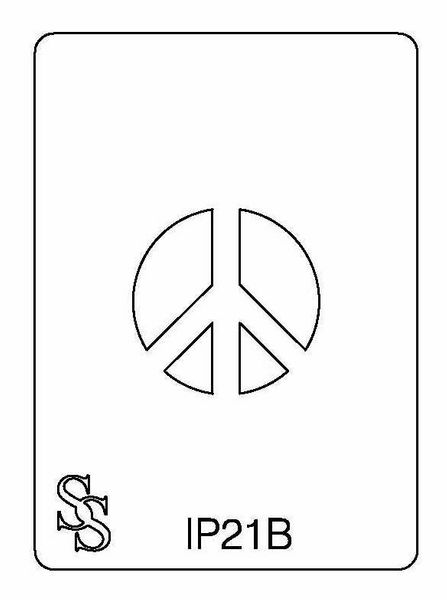 IMPRESSION PLATE IP21B PEACE SIGN