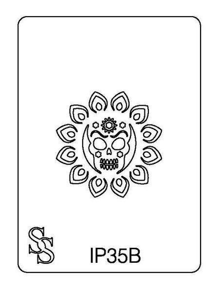 IMPRESSION PLATE IP35B FLOWER/SKULL