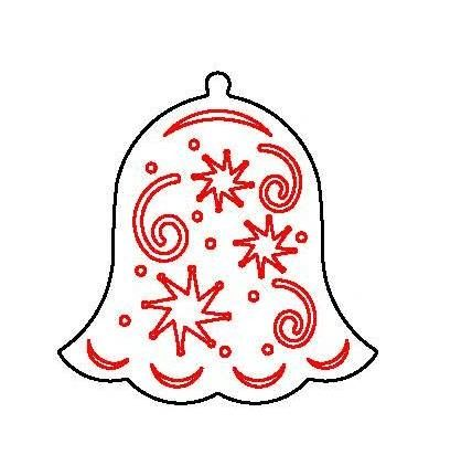 IMPRESSION PLATE IP41B BELL XMAS38B DESIGN