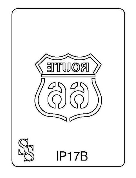 IMPRESSION PLATE IP17B ROUTE 66 SALE
