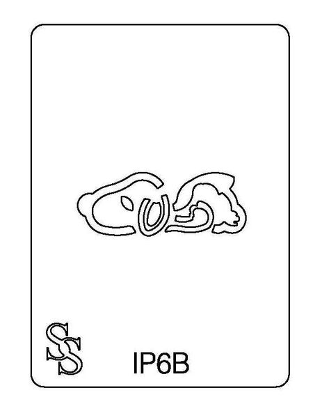 IMPRESSION PLATE IP6B DOG SALE