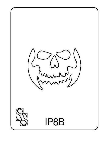IMPRESSION PLATE IP8B SKELETON FACE SALE
