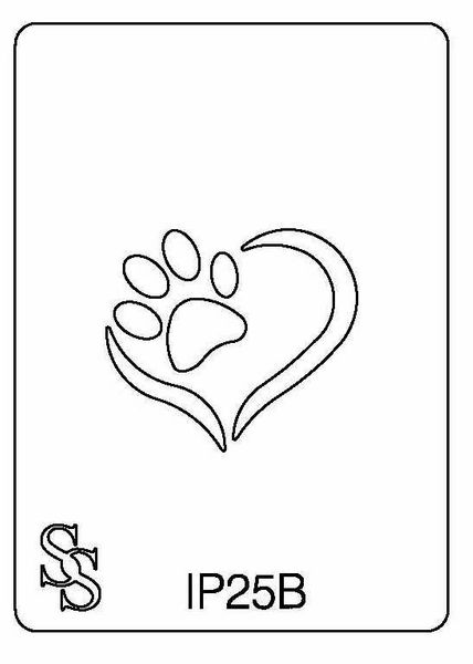IMPRESSION PLATE IP25B HEART~PAW