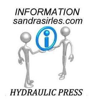 __HYDRAULIC JEWELRY PRESS INFORMATION: