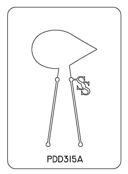 PANCAKE DIE PDD315 DESIGN 15 TEARDROP