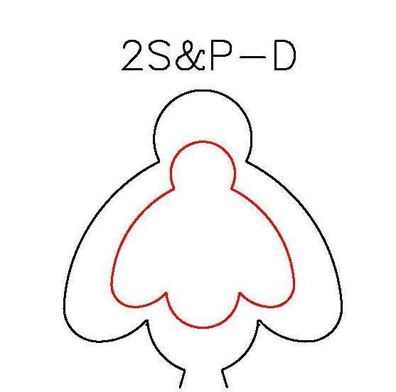 S&P DUOS: SILHOUETTE & PANCAKE DIE DUO: 2S-D, 2P-D BEE