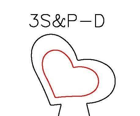 S&P DUOS: SILHOUETTE & PANCAKE DIE DUO: 3S-D, 3P-D HEART