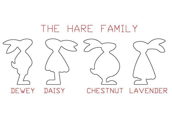 PANCAKE DIE EAS10 THE HARE FAMILY CHESTNUT