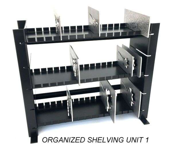 ORGANIZED SHELVING UNITS