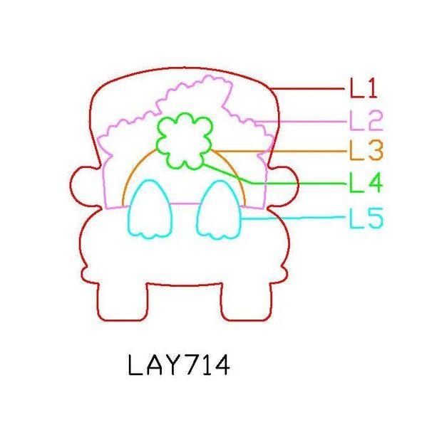 PANCAKE DIE LAY714 5 LAYER714